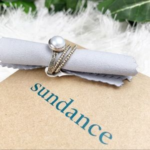 Sundance NWT Pearl Sterling Silver Stacking Rings